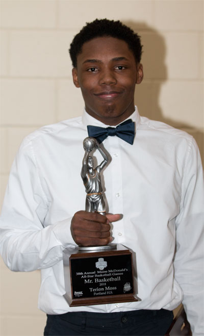 mr maine basketball terion moss